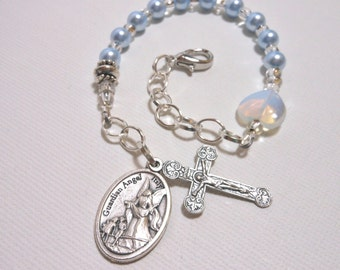 New Mother/Mother-to-Be Baby Boy Keepsake Rosary Bracelet