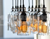 Bottle Glass Chandelier - The Apothecary
