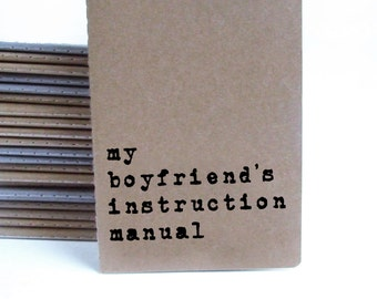 Girlfriend / Gay Gift. MOLESKINE® notebook with funny quote: my boyfriend's instruction manual