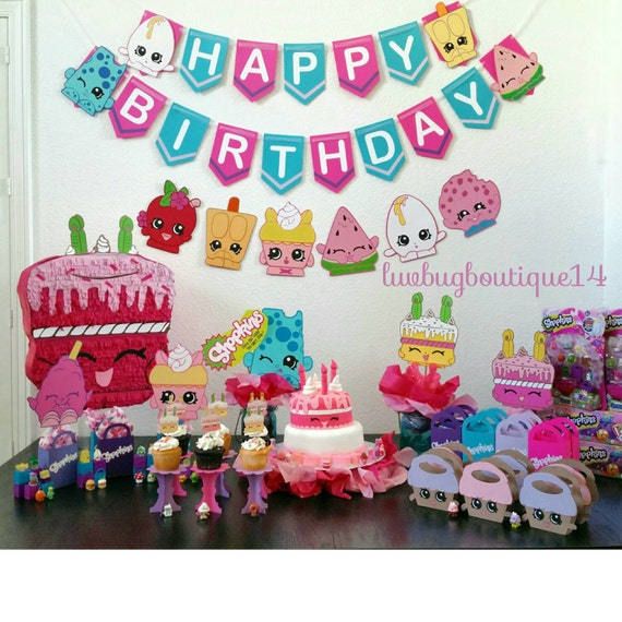 Items Similar To Shopkins Birthday Banner- Shopkins Party