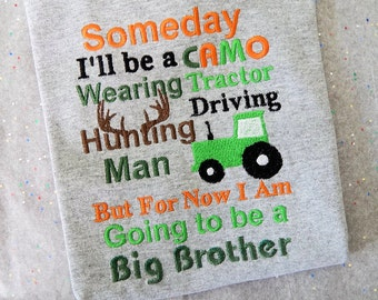 Big Brother Announcement shirt ; Big Brother Camo Shirt;  Baby Announcement; ; New Baby Shirt