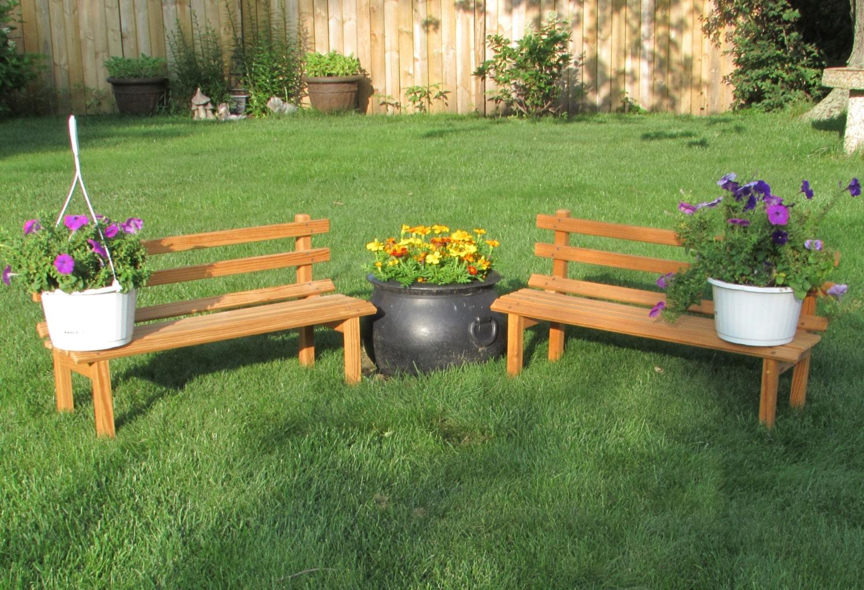 Child Size Bench Plant Stand Garden Seat Doll Furniture