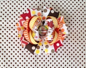 SALE! Ready To Ship Hairbow! I Love Autumn Hairbow, Fall Hairbow, Glitter, Chevron, Thanksgiving Hairbow, Polka Dot Boutique, Girls Hairbow