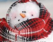 Christmas in July SALE Jr. Mrs. Frostie, Snowman, Standing Snowman, Handmade Snowman