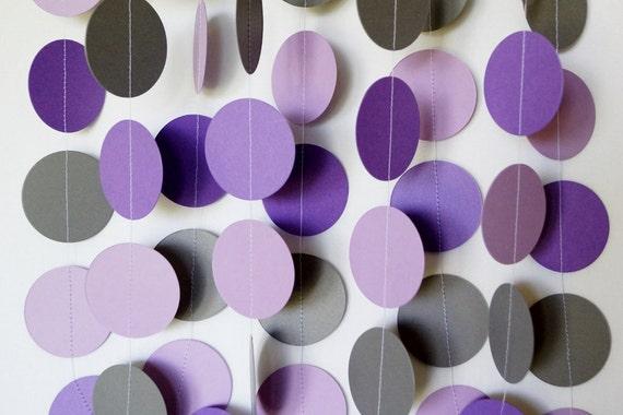 Purple Gray Garland Birthday Party Decoration Purple Gray