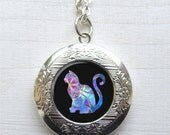 Locket, Cat Necklace, Pet Locket, Photo Locket Necklace, Cat Pendant