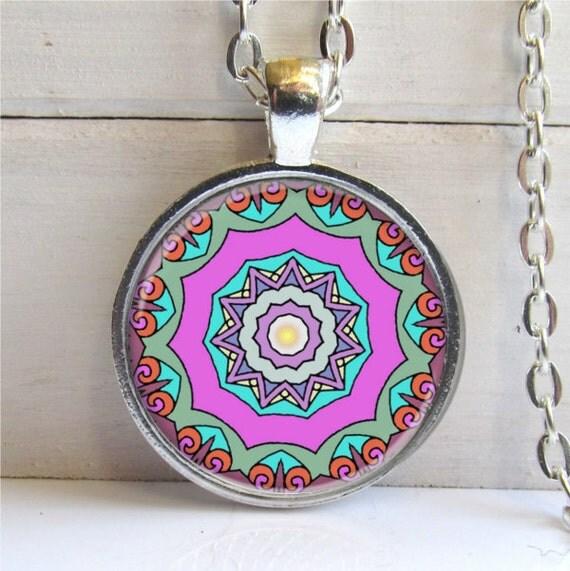 Mandala Pendant, Yoga Jewelry, Mandala Necklace