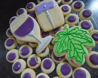 Wine themed cookies