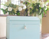 Large Card Box with a Lock and Key by Burlap and Linen Co