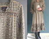 Floaty & Sheer 70s Indian Gauze Dress M-L