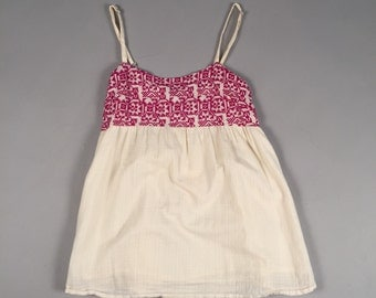 90s boho peruvian style baby doll top by Delias sz small