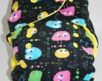Minky One Size Ooga Booga Hybrid Diaper