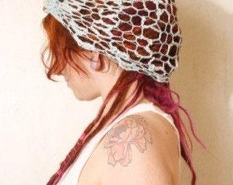 Crochet hair wrap Blue headband Woman headband Adult headband Blue hair wrap Knit headband Beach headband Bohemian headband