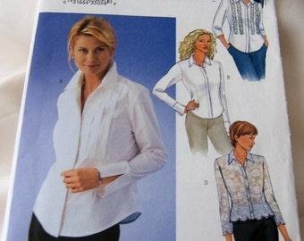 Butterick 3525 uncut size 12, 14 and 16 womans classic blouse