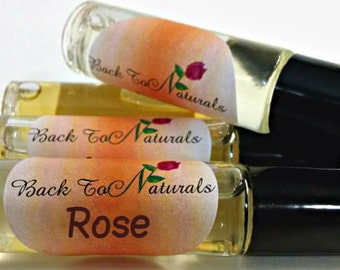 Rose Fragrance Oil  - Floral Perfume Oil  in a Roll on bottle - Perfume for Her