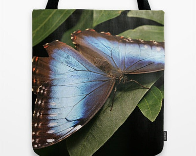 Blue Morpho Butterfly Photo Tote Bag, Tote Bag, Photo Tote, Butterflies