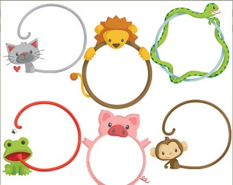 Animal Frame Clipart  -Personal and Limited Commercial Use- circle frame clip art