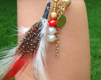 Charming Bling- Red Feather