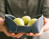 ceramic serving  set , Ceramic nesting  set , blue modern serving bowls ,  blue trays set  , decorative Serving platters.
