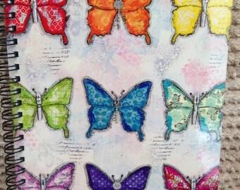 Rainbow Butterflies A6 Notebook