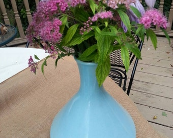 Beautiful Robin's Egg Blue Mid Century Modern Vase