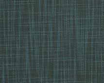Indigo Blue Upholstery Fabric Yardage - Woven Steel Blue Fabric for Furniture Upholstery - Dark Denim Blue Throw Pillow - Blue Grey Fabric