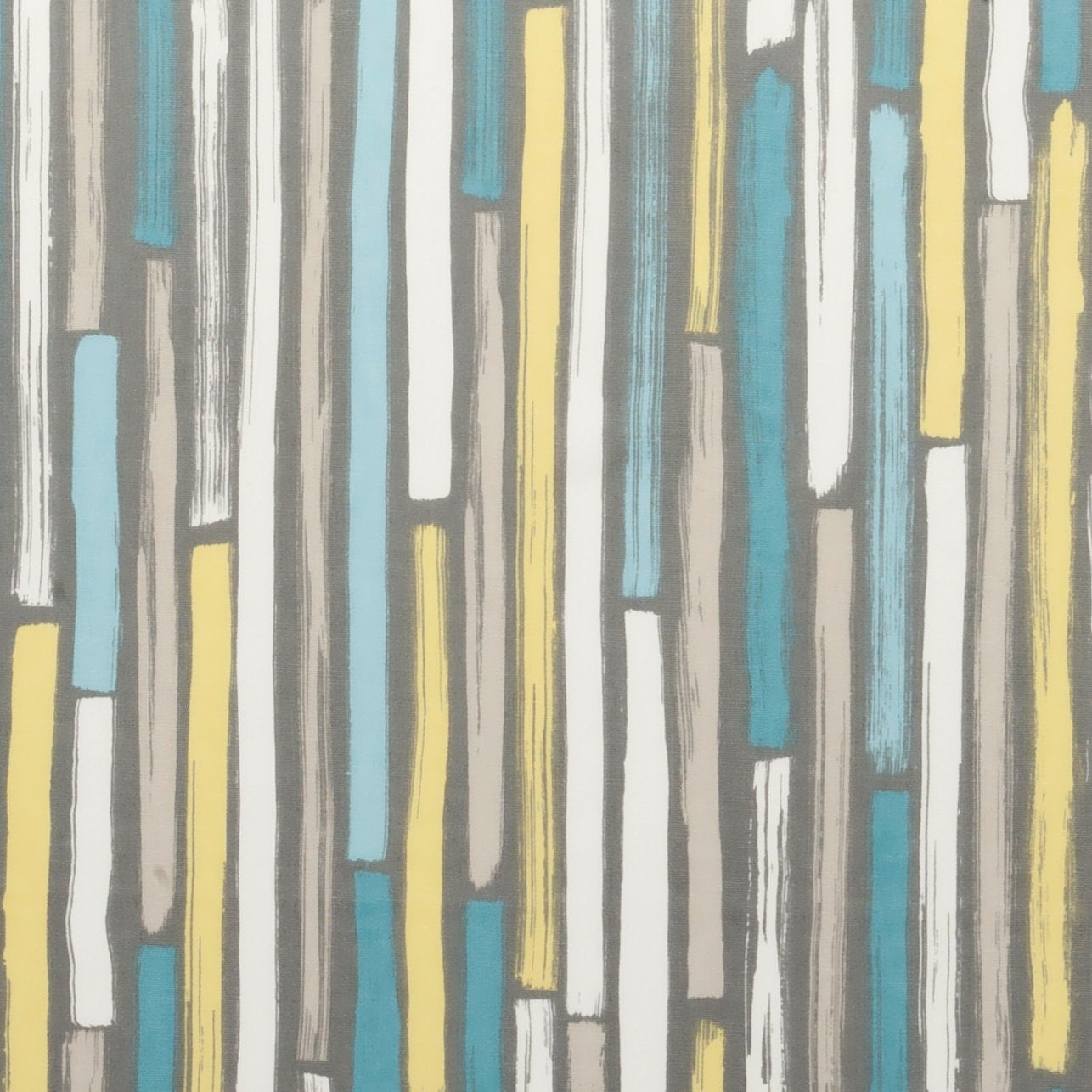 Modern turquoise and grey upholstery fabric aqua yellow - Turquoise and yellow curtains ...