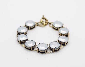 Trendy Black Sparkle Crystal Bracelet - Designer Inspired