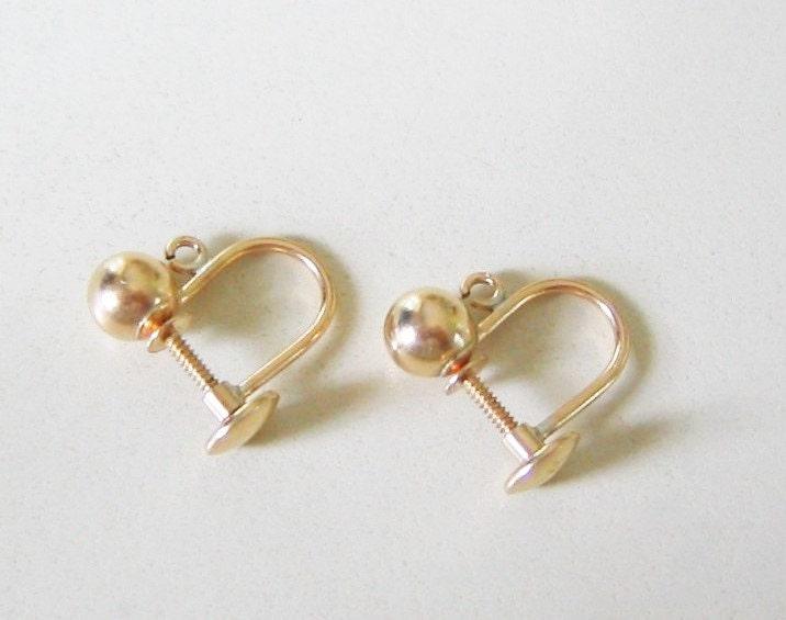 earring findings 14k gold filled clip on back earrings
