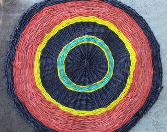 Colorful Recycled Twine Rug