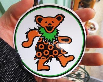 Dancing Fishman Bear Grateful Dead Phish On White Series 3 High Quality Vinyl Sticker