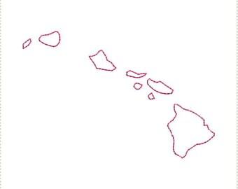 Hawaiian island outlines  Etsy