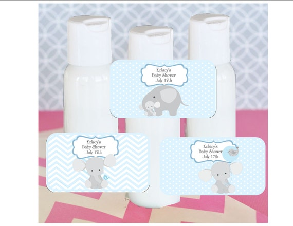 Baby Shower Favors Hand Lotion ~ Hand lotion baby shower favor blue elephant theme