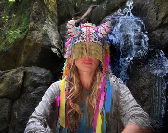 UTHA SHAMAN_Original_festival hat _festival headdress _festival headpiece_Burningman