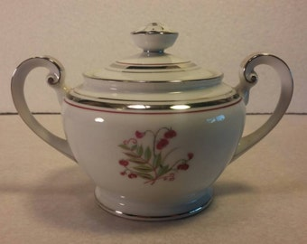 Platinum Beauty Very ELEGANT SUGAR BOWL with Lid