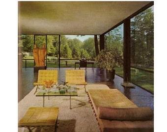 1968 Huge Mid Century Modern Design Book Inside Today's Home Faulkner 60s Mod