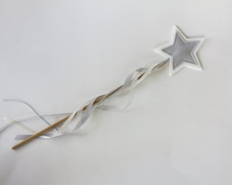 White and Silver Star Wand