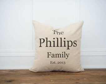 Custom Personalized Name Pillow Cover