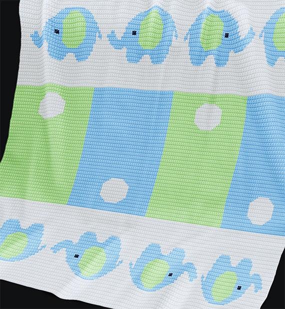 Crochet Pattern Baby Blanket Pattern Elephants By