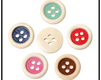 10 bright 15mm buttons