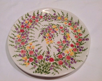 "Beautiful Nine Inch Plate ""Spring Garden"" by Tabletops Unlimited"