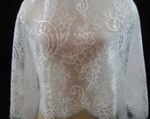 White Chantilly Lace, Lace, Bridal Lace, Bridal Lace Fabric, Lace Fabric - PRIVATE LISTING