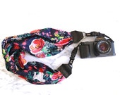 The 'Birdie' Scarf Camera Strap with Quick Release Buckles -- 1.5- 2 inches wide