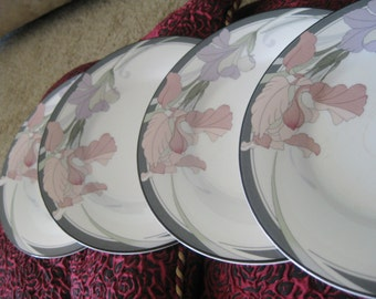 Noritake Cafe Du Soir Salad plates Set of 4 good to  very  good with noted  wear