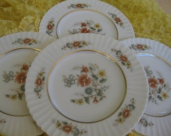 Lenox Temple Blossom Bread  Plates Brand NEW old stock, Temple Collection Gold backstamp, Set of 4 included