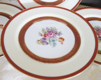 Noritake Salad Plates 1940s Morimura  Set of four, Good to very good 1940s stamplink is included in the listing
