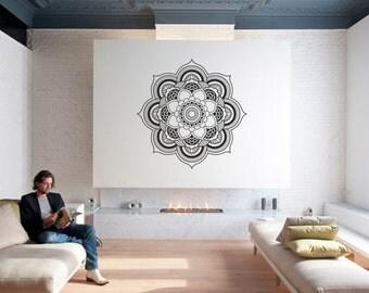 Wall Art - Mandala of Oneness geometric vinyl wall decal / sticker / mural mandala wall decor