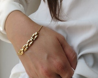 Gold bracelet ,delicate bracelet, 14k gold bracelet, romantic bracelet, thin gold bracelet, dainty gold bracelet, minimalist bracelet