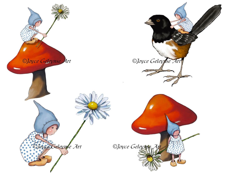 Gnome Clip Art: Gnome Clipart Hand Drawn Clip Art Fantasy Gnomes
