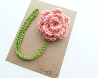 Peach Pacifier Clip--Crochet Flower pacifier clip--Baby Girl accessories--MAM adapter--Sweetlace Shop